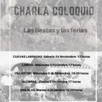 """CHARLA COLOQUIO """"LAS FIESTA Y LAS FERIAS"""""""