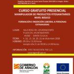CURSO MANIPULADOR DE PRODUCTOS FITOSANITARIOS (PERSONAS EXTRANJERAS)
