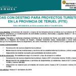 AYUDAS CON DESTINO PARA PROYECTOS TURISTICOS EN LA PROVINCIA DE TERUEL