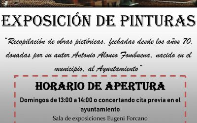 HORARIO DE APERTURA-EXPOSICION DE PINTURAS A.FOMBUENA