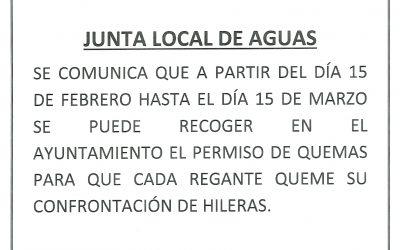 JUNTA LOCAL DE AGUAS