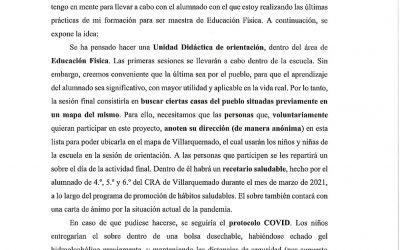 COLABORA CON EL PROYECTO DEL ALUMNADO DEL CRA DE VILLARQUEMADO