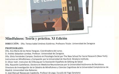 UNIVERSIDAD DE VERANO DE TERUEL – CURSO:MINDFULNESS