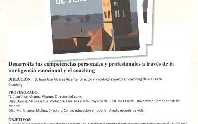 UNIVERSIDAD DE VERANO DE TERUEL- CURSO: COACHING